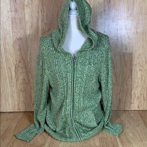 Lane Bryant Cable knit Zip Up Sweater Size 14/16W